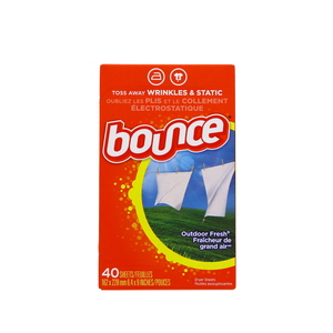 Bounce Outdoor Fresh Fabric Softener Sheets 40pcs