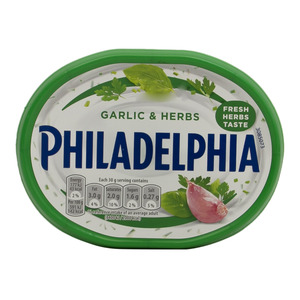 Philadelphia Medium Fat Soft Cheese With Garlic And Herbs 170g