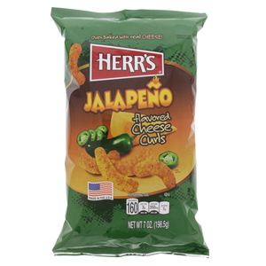 Herr's Jalapeno Flavored Cheese Curls 198.5g