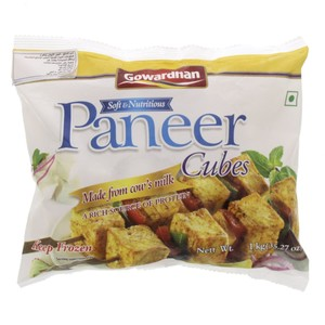 Gowardhan Frozen Soft and Nutritious Paneer Cubes 1kg