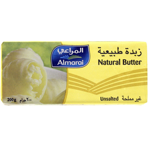Almarai Natural Butter Unsalted 200g