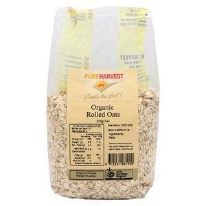 Pure Harvest Organic Rolled Oats 500g