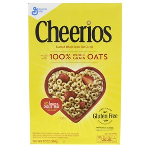 General Mills Cheerios Toasted Whole Grain Oat Cereal 340g