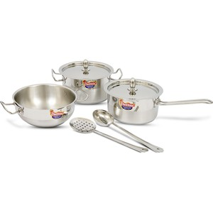 Chefline Solitaire Stainless Steel Cookware Set 7pcs