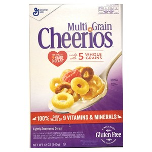 General Mills Multi Grain Cheerios Lightly Sweetened Cereal 340g