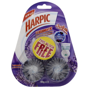 Harpic Toilet Blocks Lavender 50g X 3pcs