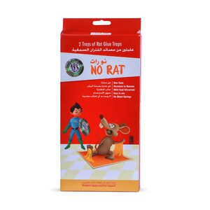 No Rat Tray of Rat Glue Traps 2pcs