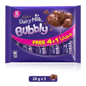 Cadbury Dairy Milk  Bubbly 28g x 5pcs