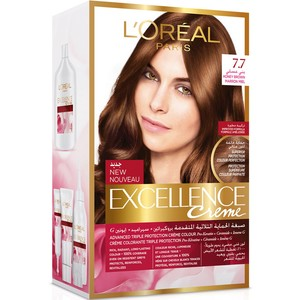 Loreal Excellence Creme Hair Color Honey Brown 7.7 1pkt
