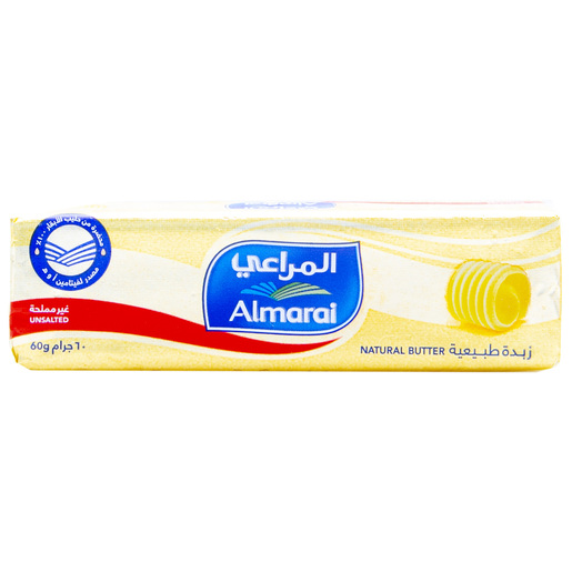 Almarai Natural Butter Unsalted 60g