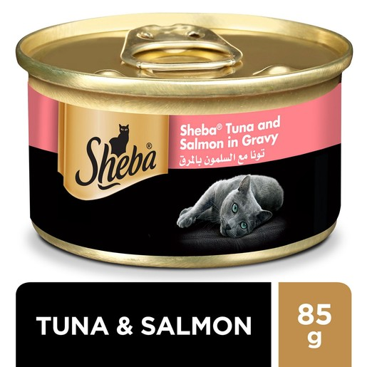 Sheba Tuna and Salmon with Gravy Cat Food 85g