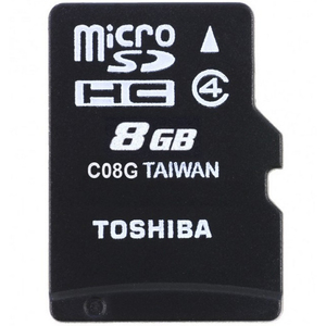 Toshiba Micro-SDHC Card With Adaptor C08GJ6A 8GB