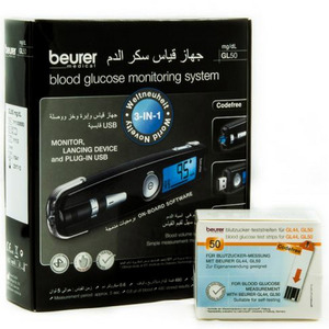 Beurer 3in1 Blood Glucose Monitoring System GL50