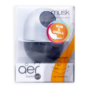 Aer Twist Gel Car Fragrance Musk 45g