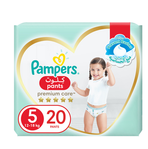 Pampers Premium Care Pants Diapers Our Softest Diaper With Stretchy Sides for Better Fit Size 5 12-18kg 20pcs