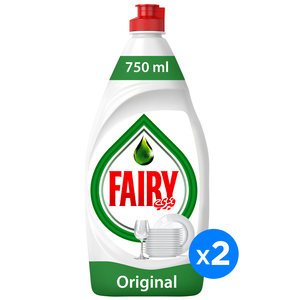 Fairy Dishwashing Liquid Soap Original 2 x 750ml