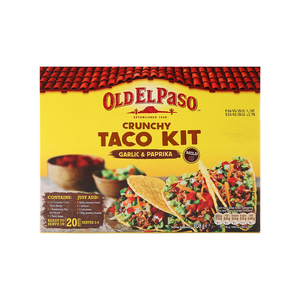Old El Paso Crunchy Taco Kit Garlic & Paprika 308g