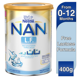 Nestle NAN L.F. Lactose Free Formula Fortified with Iron From Birth to 12 Months 400g