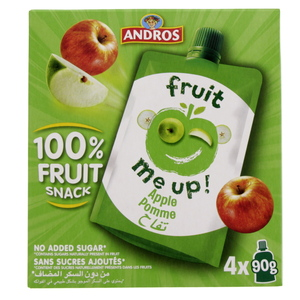 Andros Fruit Snack Apple 4 x 90g