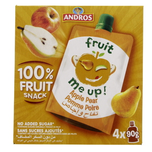 Andros Fruit Snack Apple Pear 4 x 90g