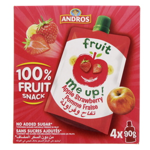 Andros Fruit Snack Apple Strawberry 4 x 90g