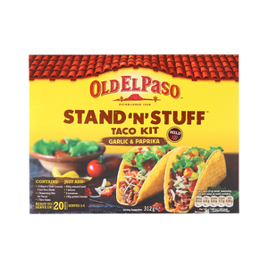 Old El Paso Stand 'N' Stuff Taco Kit Garlic & Paprika Mild 312g