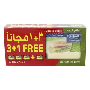 Almarai Cheddar Cheese Slices Sandwich 200gm x 4pcs