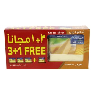 Almarai Cheddar Cheese Slices 200g x 4pcs