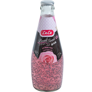 Lulu Basil Seed Drink Rose 290ml