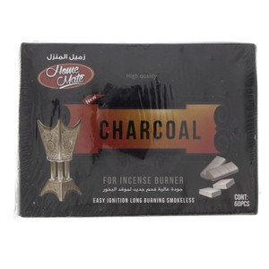 Home Mate Charcoal For Incense Burner 60pcs
