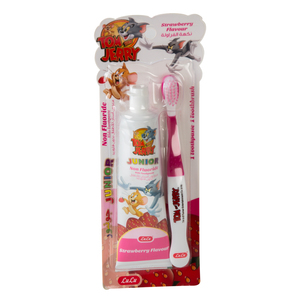 Lulu Kids Strawberry Flavour Toothpaste 75g + Toothbrush 1pc