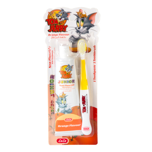Lulu Kids Orange Flavour Toothpaste 75g + Toothbrush 1pc