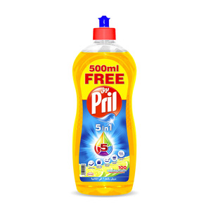 Pril Dishwash Liquid Lemon 1Litre + 500ml