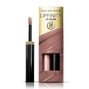 Max Factor Lipfinity Lip Colour Lipstick 2-step Long Lasting 190 Indulgent 2pcs