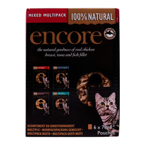Encore Cat Food Chicken and Fish Selection 6x70g