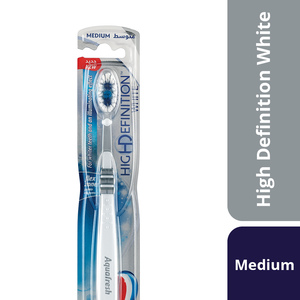 Aquafresh High Definition White Toothbrush Medium Assorted Color 1pc