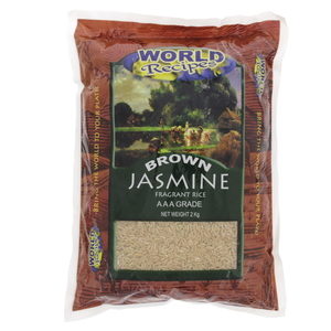 World Recipes Brown Jasmine Fragrant Rice  2kg