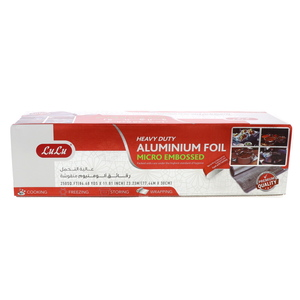 Lulu Heavy Duty Aluminium Foil Micro Embossed Size 77.44m x 30cm 250sq.ft 1pc