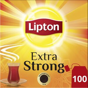 Lipton Extra Strong Black Tea 100pcs