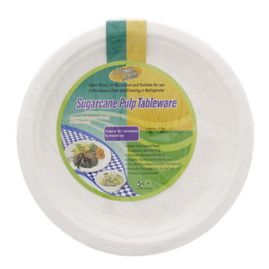 Home Mate Sugarcane Pulp Plate 9inch 20pcs