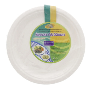 Home Mate Sugarcane Pulp Plate 10inch 20pcs