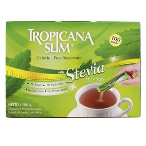 Tropicana Slim Calorie Fresh Sweetener With Stevia Stick Pack 150 Gm