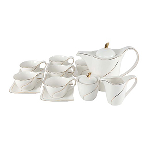 Pearl Noire Tea Set W0603 15pcs