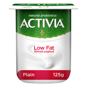 Activia Stirred Yoghurt Low Fat Plain 125g