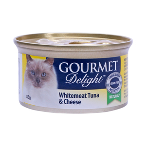Gourmet Delight White Meat Tuna & Cheese 85g