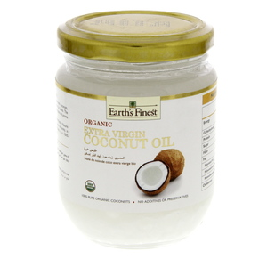 Earth's Finest Organic Extra Virgin Coconut Oil 200ml