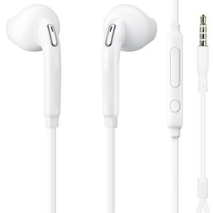 Iends In-Ear Stereo Headset 3.5mm with Microphone, White HS5247