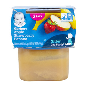 Gerber Baby Food Apple Strawberry Banana 226g