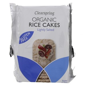 Clearspring Organic Rice Cakes Lightly Salted 130g