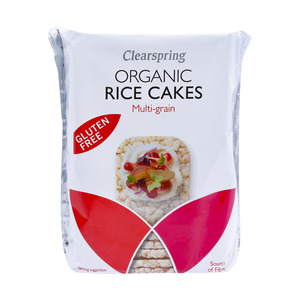 Clearspring Organic Rice Cakes Multigrain 130g